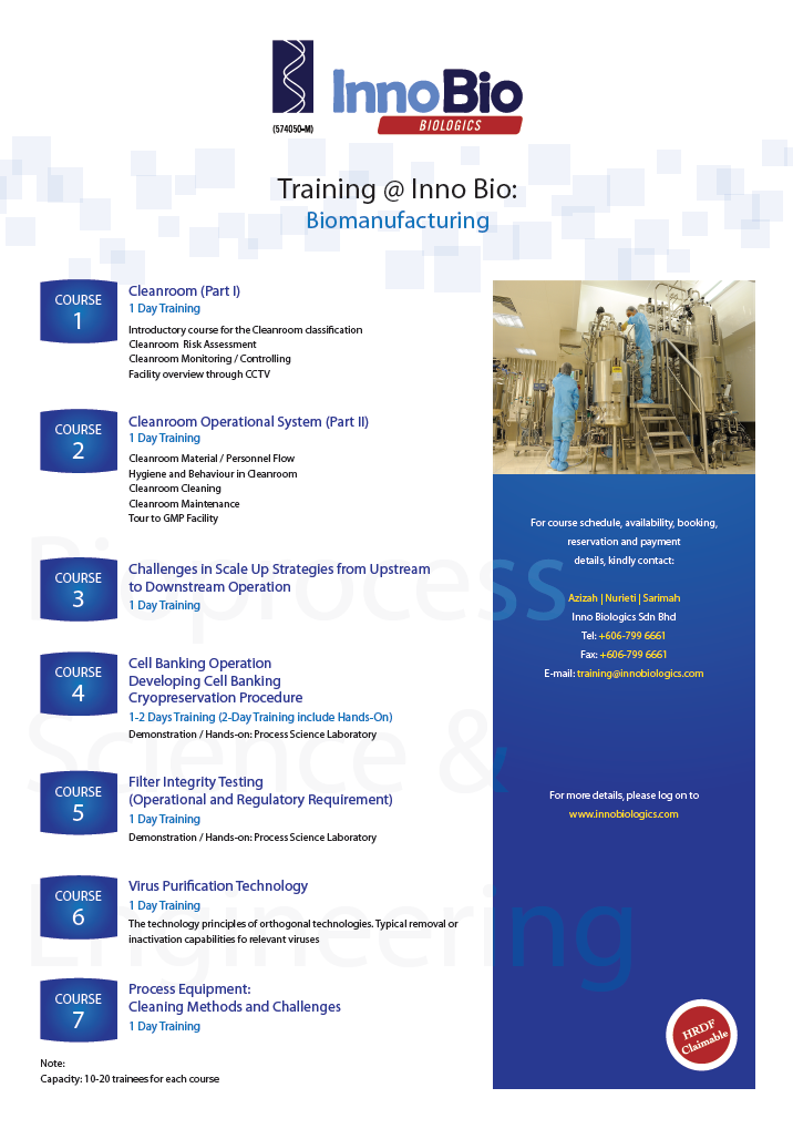 Innobio BioManufacturing Training